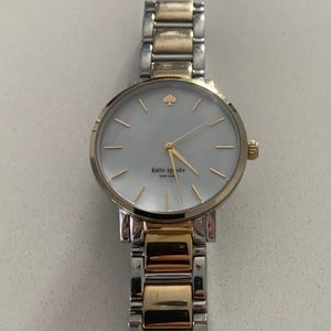 Kate Spade Two Toned Watch w/ Mother of Pearl Face